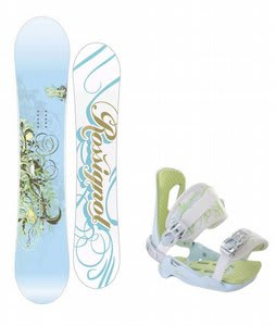 Rossignol Zena Snowboard w/Rossignol Zena Bindings White/Light Blue