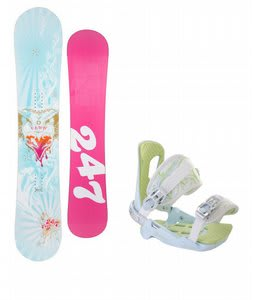 Twenty Four/Seven Fawn Snowboard w/Rossignol Zena Bindings White/Light Blue