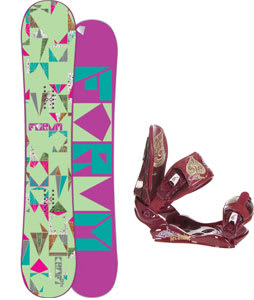 Forum Craft Snowboard w/Technine Suerte Bindings Maroon