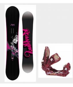 Rossignol Myth Snowboard w/Technine Suerte Bindings Maroon