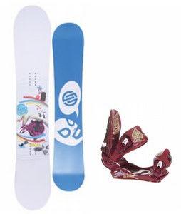Santa Cruz Suave Eyes Snowboard w/Technine Suerte Bindings Maroon