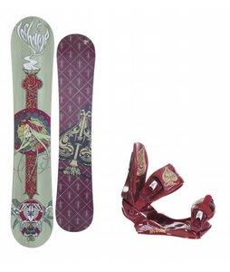Technine Suerte Series Snowboard w/Technine Suerte Bindings Maroon