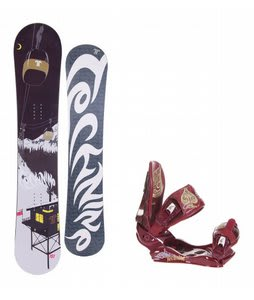 Technine True Love Snowboard w/Technine Suerte Bindings Maroon