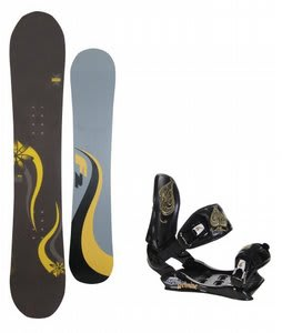 F2 Gipsy Snowboard w/Technine Suerte Bindings Black