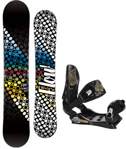 Flow Myriad Snowboard w/Technine Suerte Bindings Black
