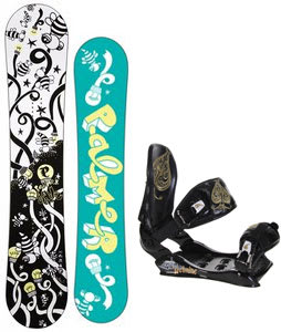 Palmer Jade Twin Snowboard w/Technine Suerte Bindings Black