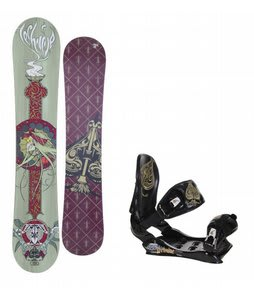 Technine Suerte Series Snowboard w/Technine Suerte Bindings Black
