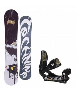 Technine True Love Snowboard w/Technine Suerte Bindings Black
