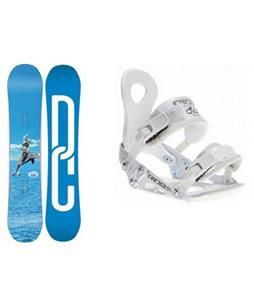 DC Biddy Snowboard w/ Ride LXH Bindings