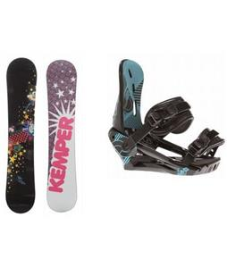 Kemper Diva Snowboard w/ Morrrow Sky Bindings