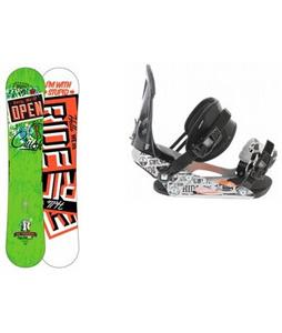 Ride Crush Wide Snowboard w/ LX Bindings