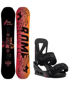 Rome Artifact Rocker Snowboard w/ Burton Custom Re:Flex Bindings