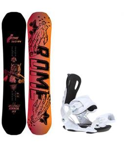 Rome Artifact Rocker Snowboard w/ Gnu Weird Bindings