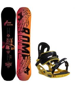 Rome Artifact Rocker Snowboard w/ M3 Pivot Rockstar Bindings