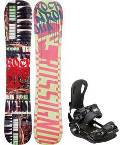 Rossignol Rocknrolla Amptek Snowboard w/ Gnu Front Door Bindings