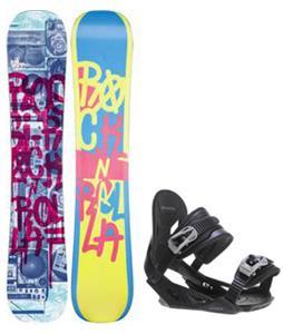Rossignol Rocknrolla Amptek Snowboard w/ Avalanche Summit Bindings
