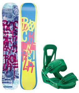 Rossignol Rocknrolla Amptek Snowboard w/ Burton Freestyle Bindings