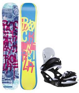 Rossignol Rocknrolla Amptek Snowboard w/ M3 Helix 3 Bindings