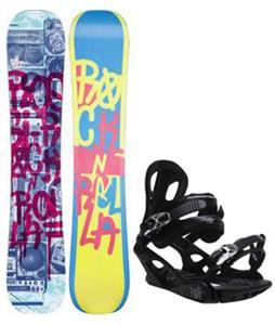 Rossignol Rocknrolla Amptek Snowboard w/ M3 Pivot 4 Bindings