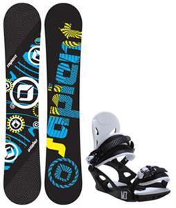 Sapient Cog Snowboard w/ M3 Helix 3 Bindings