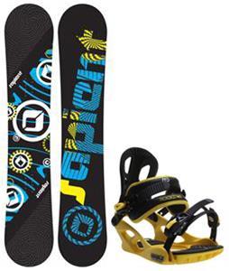 Sapient Cog Snowboard w/ M3 Pivot Rockstar Bindings