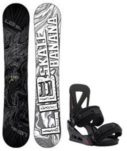Lib Tech Skate Banana Snowboard w/ Burton Custom Re:Flex Bindings