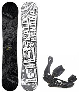Lib Tech Skate Banana Snowboard w/ Burton P1.1 Bindings