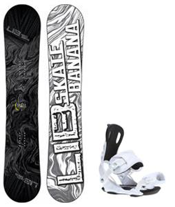 Lib Tech Skate Banana Snowboard w/ Gnu Weird Bindings
