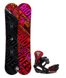 Ride Kink Wide Snowboard w/ Sapient Wisdom Bindings