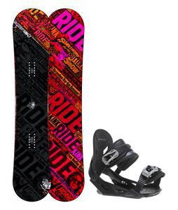 Ride Kink Wide Snowboard w/ Avalanche Summit Bindings