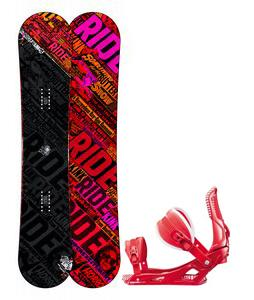Ride Kink Wide Snowboard w/ Rossignol Cage Bindings