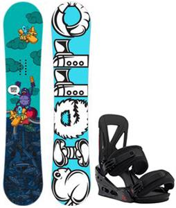 Sierra Stunt Wide Snowboard w/ Burton Custom Re:Flex Bindings