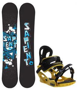 Sapient Trust Wide Snowboard w/ M3 Pivot Rockstar Bindings