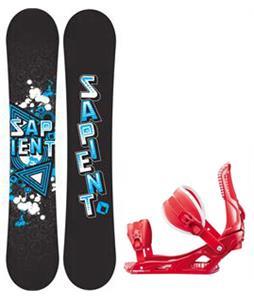 Sapient Trust Wide Snowboard w/ Rossignol Cage Bindings