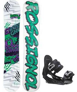 Rossignol District Amptek Wide Snowboard w/ Avalanche Summit Bindings
