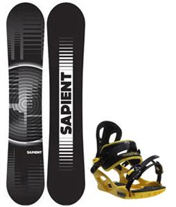 Sapient Sector Wide Snowboard w/ M3 Pivot Rockstar Bindings