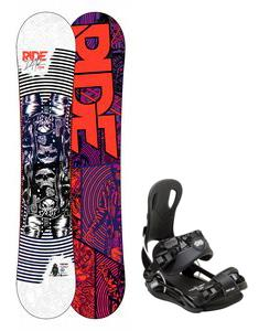 Ride DH2 Wide Snowboard w/ Gnu Front Door Bindings