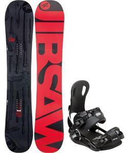 Rossignol Jibsaw Magtek Wide Snowboard w/ Gnu Front Door Bindings
