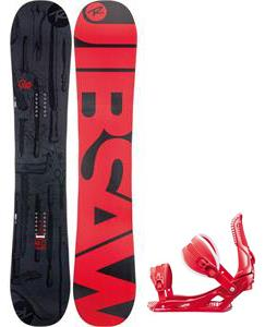 Rossignol Jibsaw Magtek Wide Snowboard w/  Cage Bindings