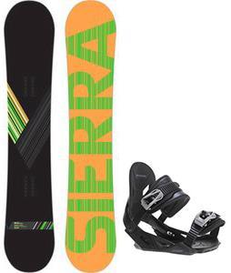 Sierra Reverse Crew Snowboard w/ Avalanche Summit Bindings