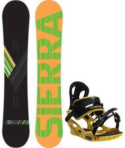 Sierra Reverse Crew Snowboard w/ M3 Pivot Rockstar Bindings