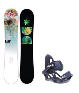 DC Biddy Snowboard w/ K2 Charm Bindings