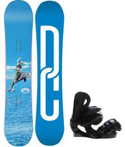 DC Biddy Snowboard w/ Roxy Classic Bindings