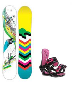 DC Ply Snowboard w/ Morrow Sky Bindings