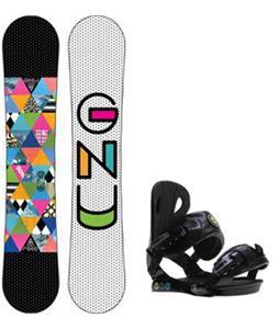 GNU B-Nice Snowboard w/ Roxy Classic Bindings