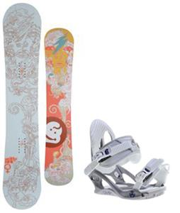Jeenyus Wedge Snowboard w/ K2 Charm Bindings