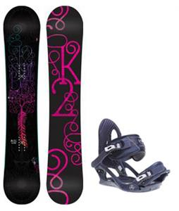 K2 Bright Lite Snowboard w/ Charm Bindings