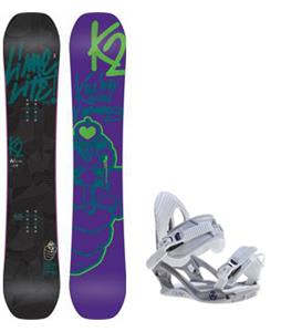 K2 Lime Lite Snowboard w/ Charm Bindings