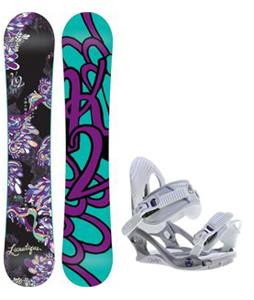 K2 Lunatique Snowboard w/ Charm Bindings