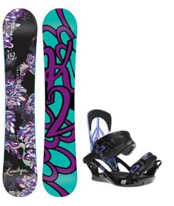 K2 Lunatique Snowboard w/ Yeah Yeah Bindings